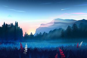 Mountains Digital Art Minimalist