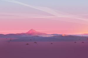 Mountains Grids Polygon 4k Wallpaper