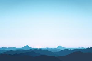 Mountains Landscape Minimalism 5k