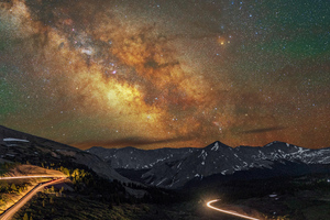 Mountains Long Exposure Milky Way 8k Wallpaper