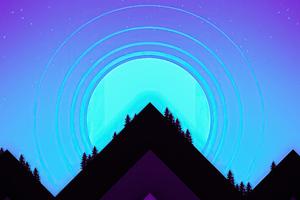 Mountains Minimal 4k Wallpaper