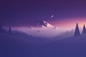 Mountains Minimalists 4k