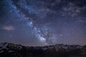 Mountains Night Sky Wallpaper