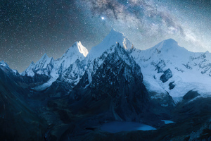 Mountains Peaks Covered With Snow 4k Wallpaper