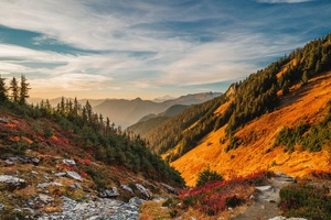 Mountains Scenery Sky North Cascades 4k