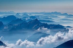 Mountains Sea Clouds 5k Wallpaper