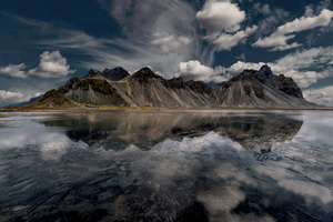 Mountains Sky Reflection Lake Wallpaper