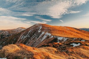 Mountains Snow Autumn 5k Wallpaper