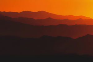 Mountains Steps Sunset 5k Wallpaper