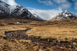 Mountains Stones Scotland Grasslands Ben Nevis 8k Wallpaper