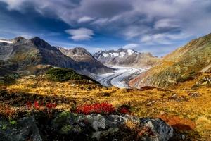 Mountains Switzerland Aletsch Glacier Alps 4k Wallpaper
