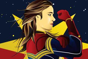 Movie Captain Marvel Art