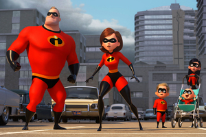 Mr Incredible Elastigirl Violet Parr And Dash In The Incredibles 2 2018