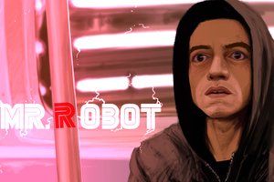 Mr Robot Digital Art 8k