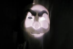 Mr Robot Glitch Art Wallpaper
