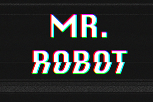 Mr Robot Typography Glitch Art 4k Wallpaper