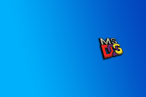 Ms Dos Logo 4k Wallpaper