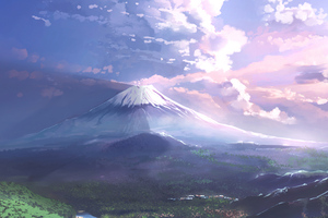 Mt Fuji Scenery Art 4k
