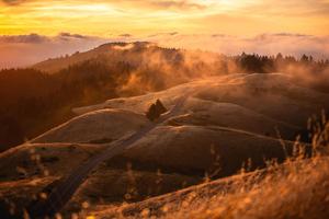 Mt Tamalpais With Low Fog 4k Wallpaper