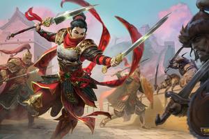 Mulan Smite 4k Wallpaper