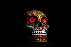 Multi Color Skull 4k
