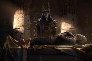 Mummy Key Art Assassins Creed Origins Wallpaper
