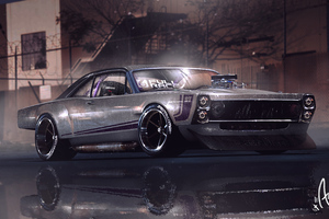 Muscle Car Graphical Art
