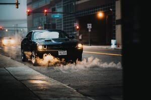 Muscle Car In City