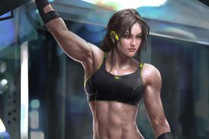Muscular Girl 4k Wallpaper