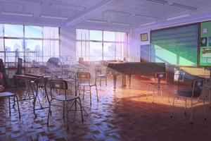 Music Classroom Anime 4k Wallpaper