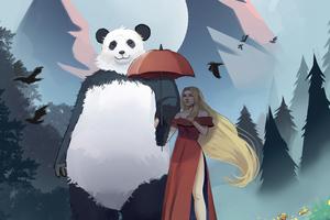 My Panda Friend Wallpaper