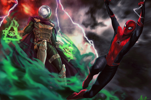 Mysterio And Spiderman Far From Home