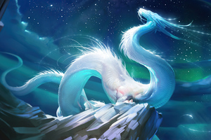 Mythical Dragon Sea Serpent 4k Wallpaper