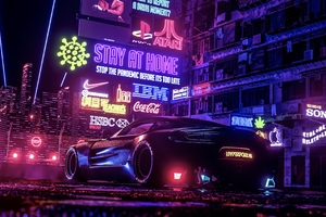 NASSCAR Racecar In Neo Cyberpunk Generation