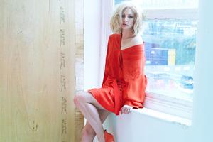 Natalie Dormer Orange Dress