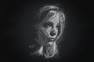 Natalie Dormer Scribble Artwork 4k Wallpaper