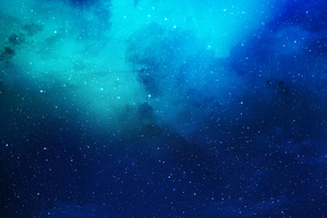 Nebula Blue Space Wallpaper