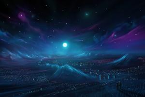Nebula City Wallpaper