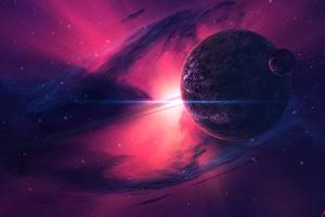 Nebula Pink Planets