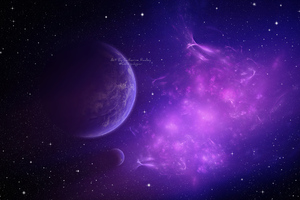 Nebula Purple Fractal 4k Wallpaper