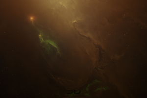 Nebula Space Brown Immersive Wallpaper