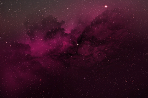 Nebula Space Red Wallpaper