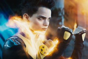 Negasonic Teenage Warhead Deadpool 2 Wallpaper