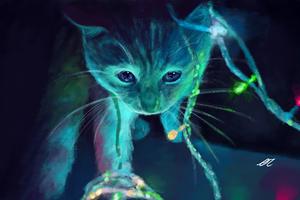 Neon Cat Artwork