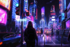 Neon City 5k Wallpaper