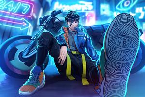 Neon City Biker Boy 4k Wallpaper