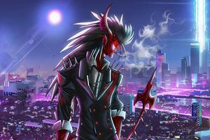 Neon City Demon 5k Wallpaper