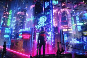 Neon City Pan 4k Wallpaper
