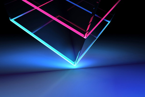 Neon Cube Abstract Shapes 4k Wallpaper