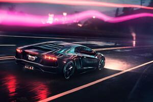 Neon Demon Lamborghini